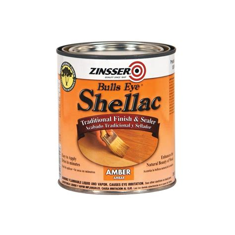 zinsser 1 qt amber shellac traditional finish and sealer 00704h the home depot