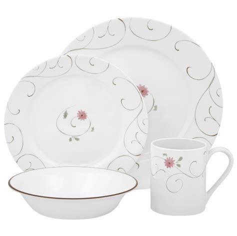 corelle iris pattern corelle impressions enchanted 16 piece dinnerware set