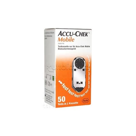 Accu Mobil Box cassetta test misuratore di glicemia accu chek mobile 50 strisce tuttofarma