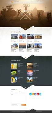 homepage web design inspiration desert people band website layout design inspiration