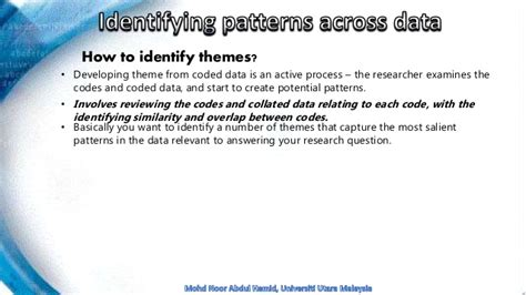 pattern analysis in qualitative research chapter 4 common features of qualitative data analysis