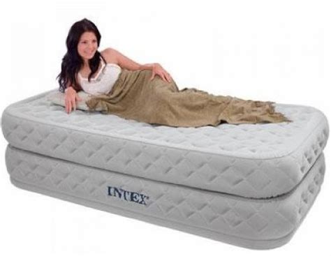twin size air bed  guests sleeping  air