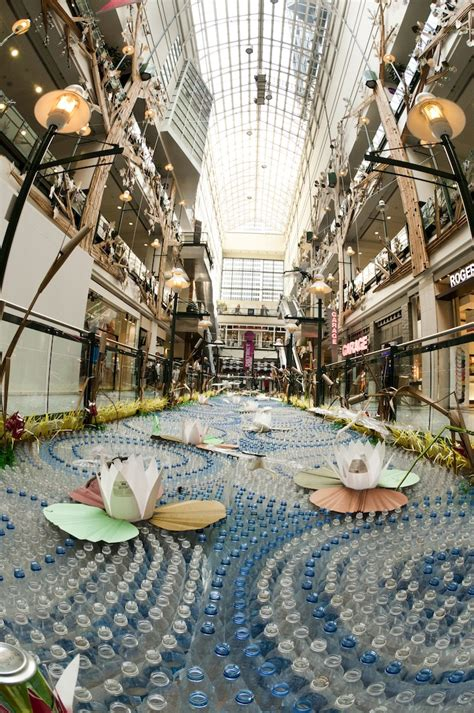 massive recycled materials garden