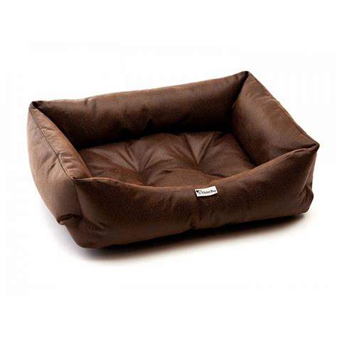 dog leather sofa chilli dog black brown faux leather sofa dog bed