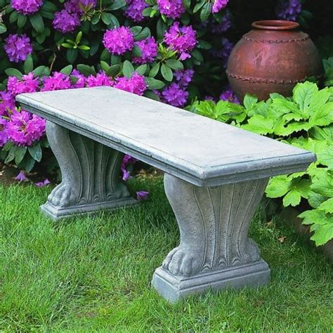 cast stone benches garden cania international westchester cast stone backless garden bench be 16 al