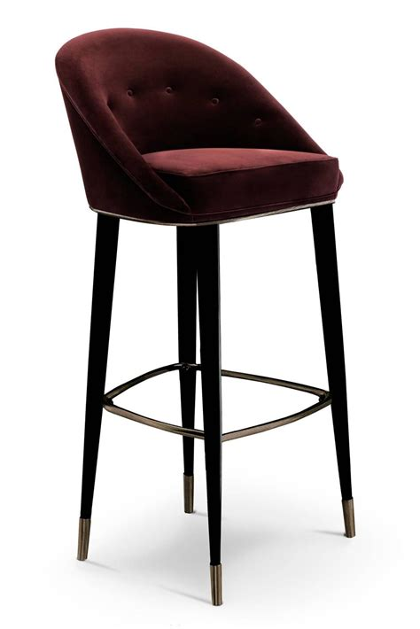 designer bar stools south africa bar stool myla with cotton velvet seat and black lacquered