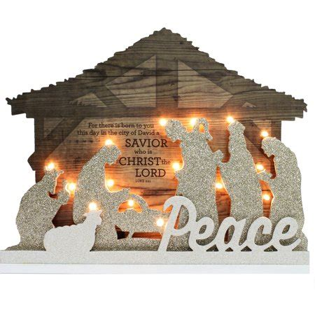 target nativity scene decorations time decor 14 quot lighted nativity walmart