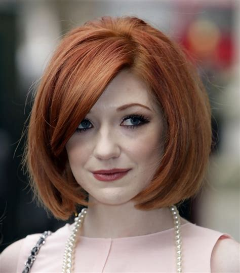 side pictures of bob haircuts nicola roberts classic short bob haircut with side bangs