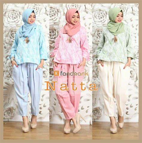 Baju Setelan Wanita Muslim Celana Dan Blouse New Ralita Set setelan blus dan kulot simpel cantik jual baju muslim kaos tas wanita untuk dewasa anak
