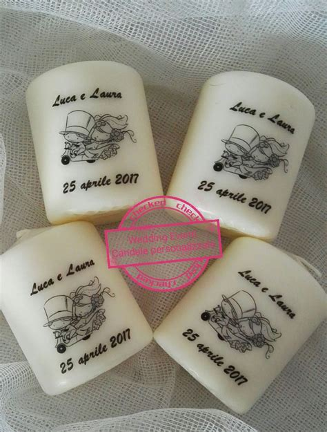 matrimonio candele 26 best candele personalizzate matrimonio images on