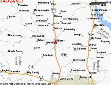 map of gilmer texas nevitt davis memorial page