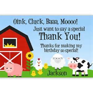 farm thank you card barn animals pig chicken by purpleberryink