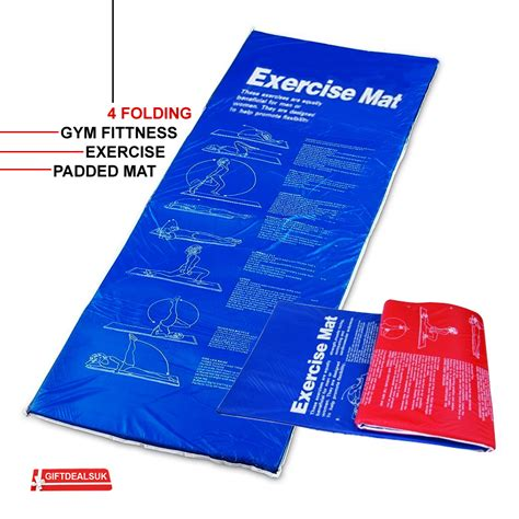 Padded Workout Mat by 1 8 Mtr Exercise Padded 4 Folding Pilates Mat