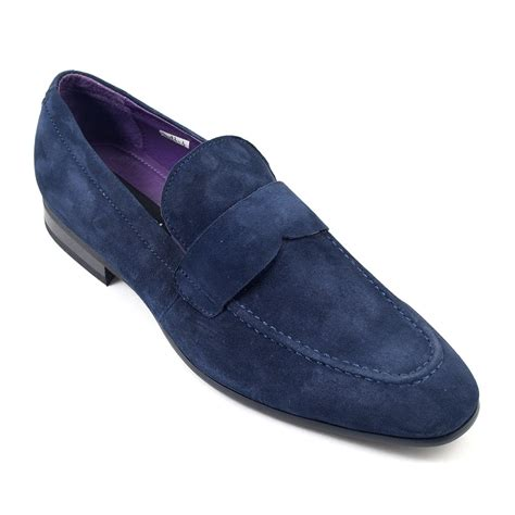 suede loafers shop mens navy suede loafers gucinari mens loafers