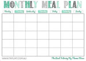 Monthly Food Menu Template by 10 Monthly Planner Template Memo Formats
