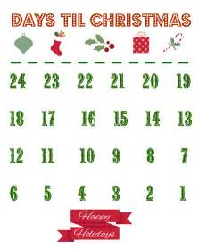 Printable Countdown Calendar Template by Printable Countdown Calendar The Country Chic