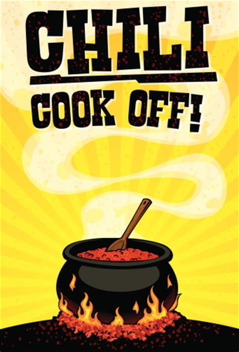 chili cook flyer template cooking competition clip vector images