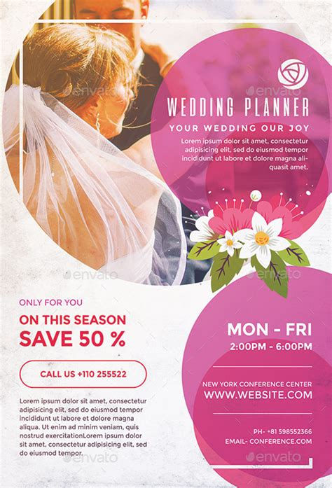 Wedding Planner Flyer by Wedding Flyer Wedding Photographer Flyer Template Wedding