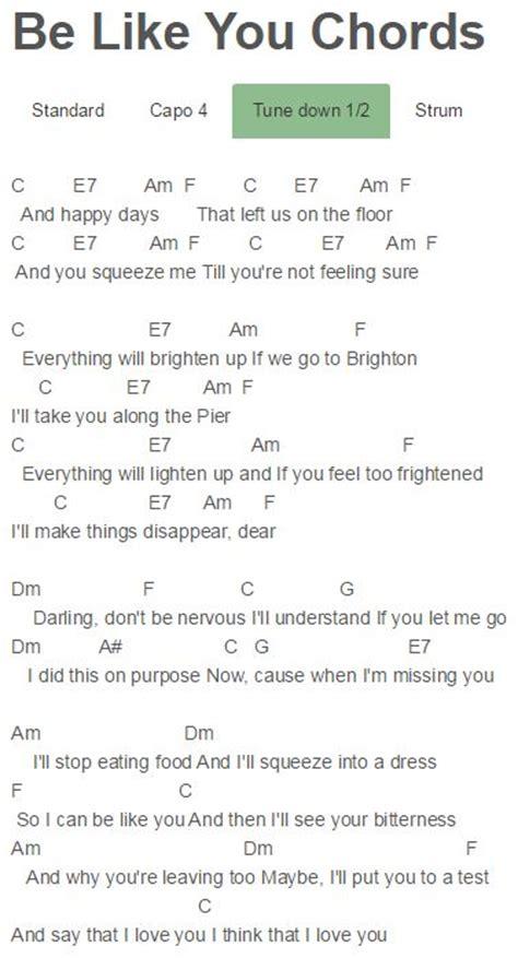 ed sheeran one chords no capo 44 best guitar images on pinterest music sheet music