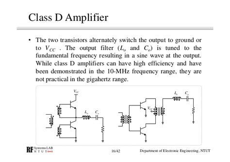 transistor lifier class d rf module design chapter 6 power lifier