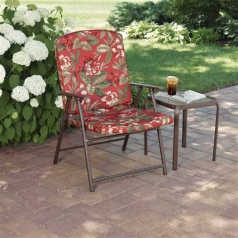 Design For Mainstays Patio Furniture Ideas Mainstays Padded Fab Folding Chair Floral Walmart