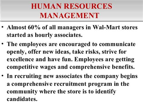 Human Resource Management For Mba Students Pdf by Walmart Value Chain Analysis