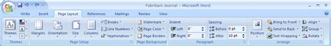 page layout ribbon word 2007 developer overview of the user interface for the 2007