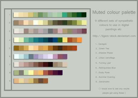 muted color palette muted colour palette