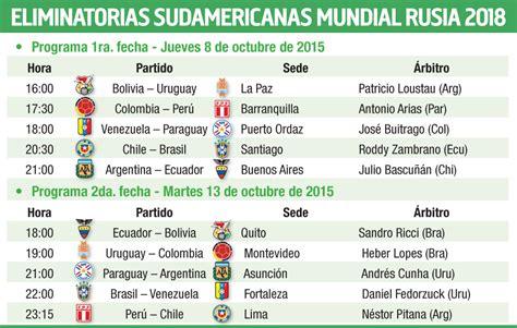Calendario Eliminatorias Sudamericanas Rusia 2018 Horarios Eliminatorias Sudamericanas 2018 Calendario 28 Images