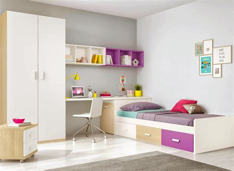chambre ado complete chambre ado design multicolore avec lit 3 coffres