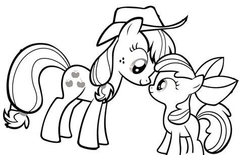 my little pony looking at each other coloring page