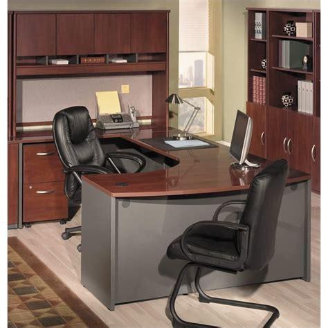 Bush Office Desk Bush Business Series C 4 U Shape Office Desk In Hansen Cherry Bsc055 244