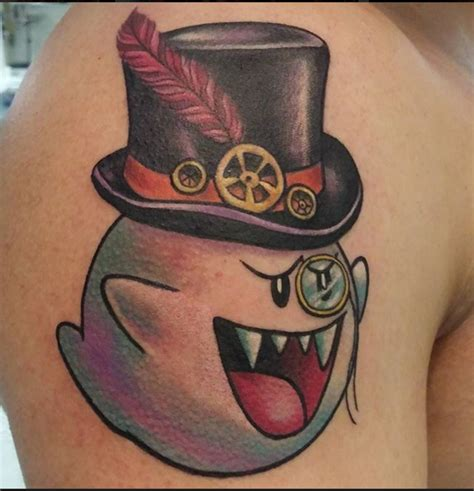 mario ghost tattoo 66 mario tattoos