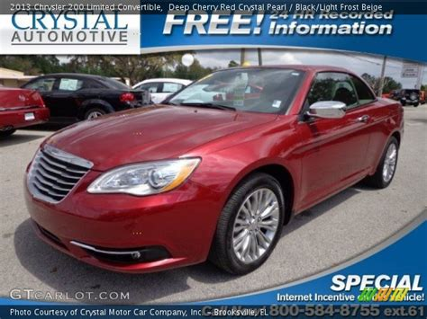 2013 chrysler 200 limited convertible cherry pearl 2013 chrysler 200 limited