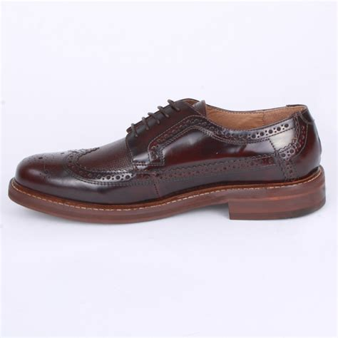 mens burgundy sneakers h by hudson callaghan mens laced leather brogue shoes