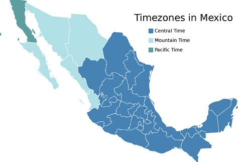 map of us and mexico time zones timezones in mexico mapsof net