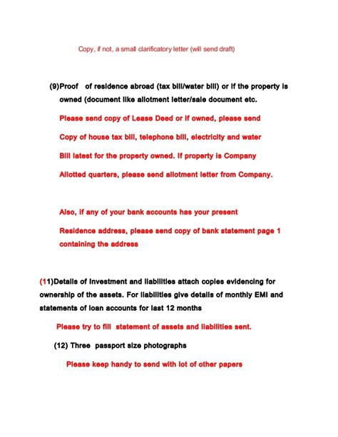 Possession Letter Format For Lease List Of Personal And Property Papers For Nri Home Loans