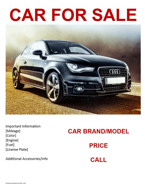 Car For Sale Template car for sale flyer template
