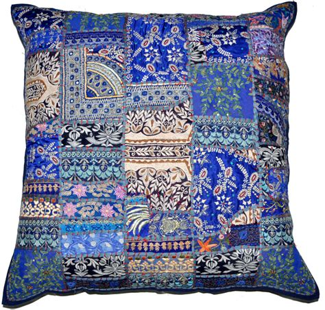 Decorative Pillows 24x24 by 24x24 Decorative Vintage Throw Pillow Indian Patchwork