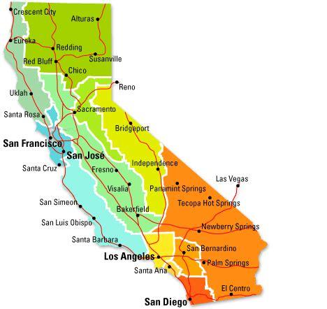 california regions map key map of california regions roam maps