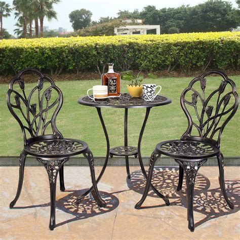 Gym Equipmentoutdoor Patio Bistro Set Tulip Design In Balcony Bistro Set Patio Furniture