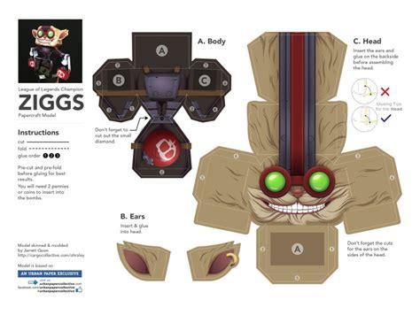 Legend Of Papercraft - league of legends ziggs papercraft ohraley