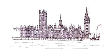 houses of parliament drawing by steve huang