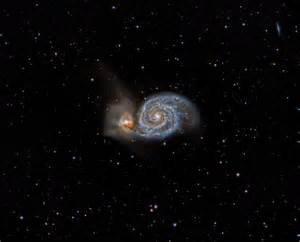 The interacting galaxies messier 51 and ngc 5195 astronomy magazine