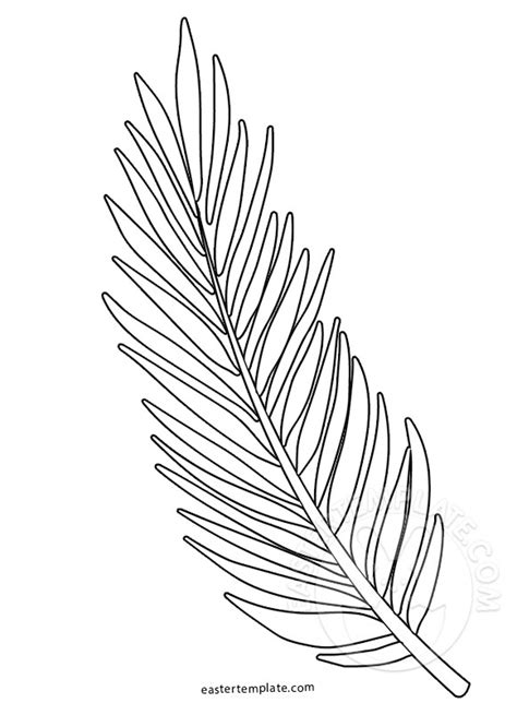 palm branch template palm sunday coloring page palm branch template easter