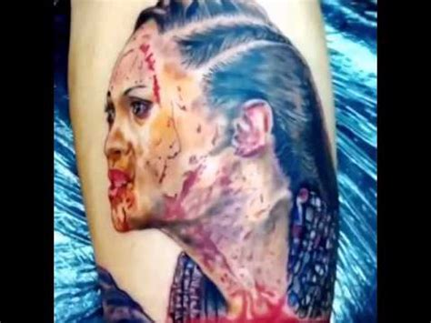 spartacus tattoo navia portrait from spartacus tv series