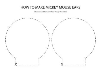 How To Make Mickey Mouse Ears 12 Steps With Pictures Wikihow Mickey Ear Template