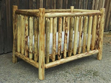 how to build a log baby crib log crib on pinterest