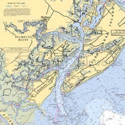 Coastal Kitchen Rugs - south carolina palmetto bluff nautical chart decor