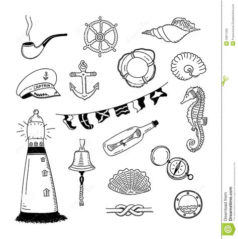 doodle animals vector free sea vector doodle collection royalty free stock image